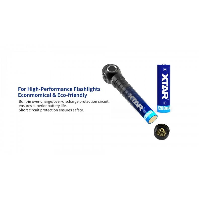 Xtar 2200mAh 3,7V 18650 akumuliatorius su PCB
