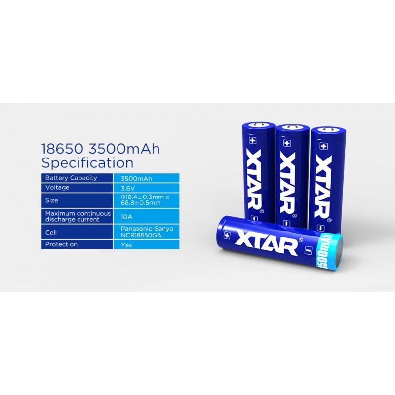 Xtar 3500mAh 3,6V 18650 akumuliatorius su PCB