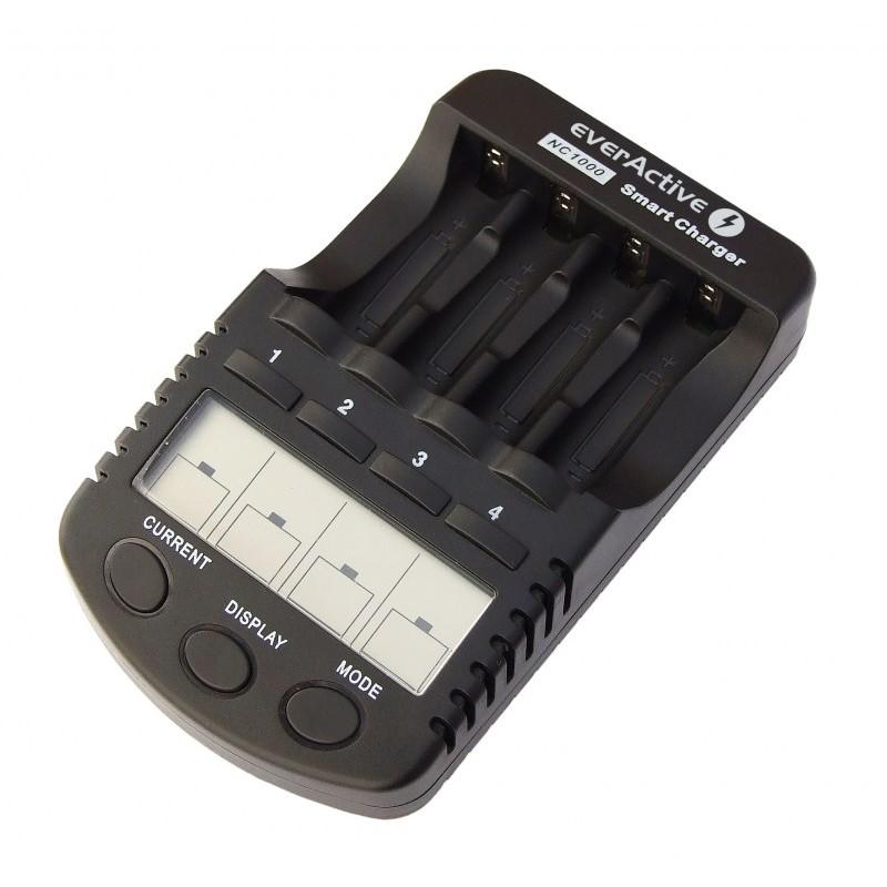 Ni-MH AA AAA C D 9V baterijų įkrovikliai-pakrovėjai